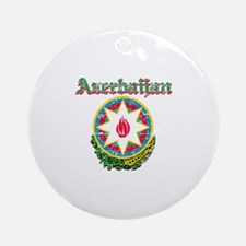 Azerbaijan Coat of arms Ornament (Round)