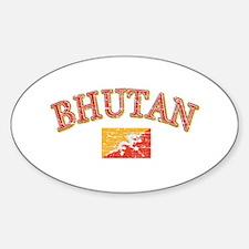 Bhutan Flag Designs Decal