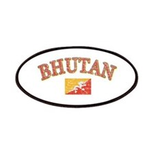 Bhutan Flag Designs Patches