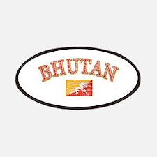 Bhutan Flag Designs Patches
