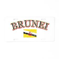 Brunei Flag Designs Aluminum License Plate