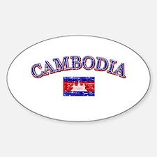 Cambodia Flag Designs Decal