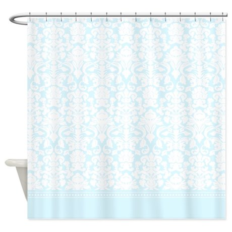 baby blue gifts baby blue bathroom d cor blue damask shower curtain
