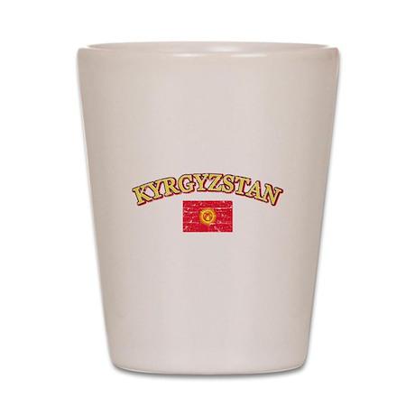 Kyrgyzstan Flag Designs Shot Glass