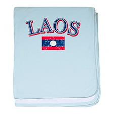 Laos Flag Designs baby blanket