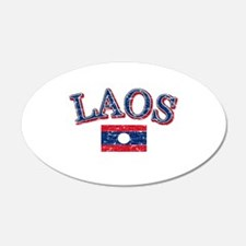 Laos Flag Designs Wall Decal