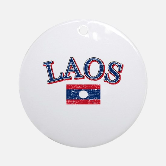 Laos Flag Designs Ornament (Round)