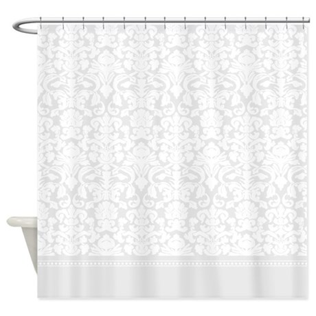 Grey Damask Shower Curtain By InspirationzStore