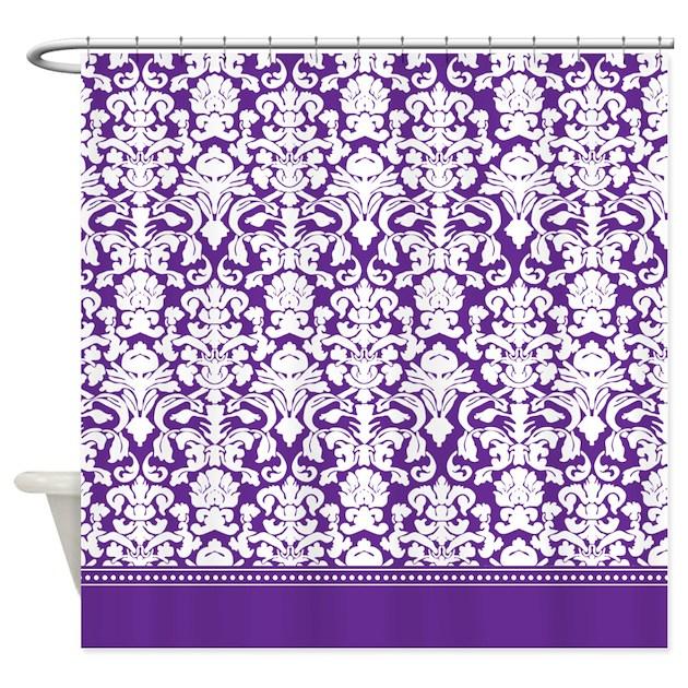 Purple Damask Shower Curtain By Inspirationzstore