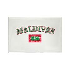 Maldives Flag Designs Rectangle Magnet