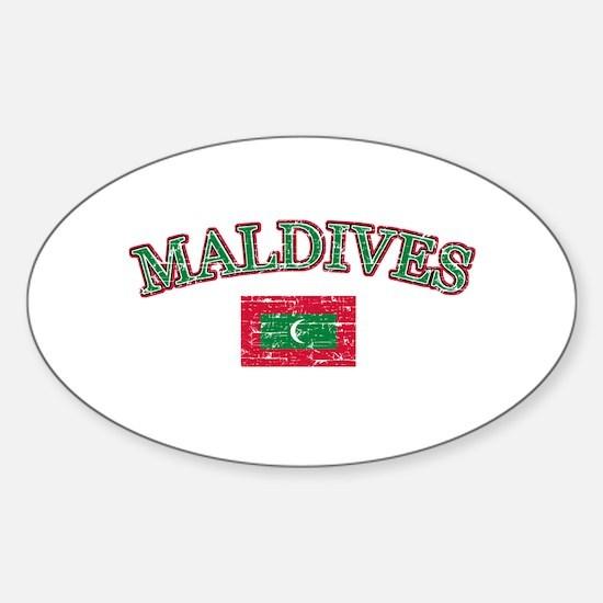 Maldives Flag Designs Sticker (Oval)
