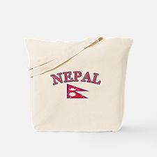 Nepal Flag Designs Tote Bag