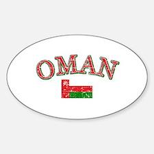 Oman Flag Designs Sticker (Oval)