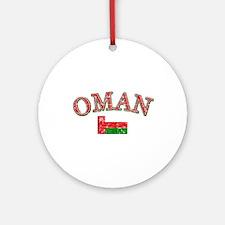 Oman Flag Designs Ornament (Round)
