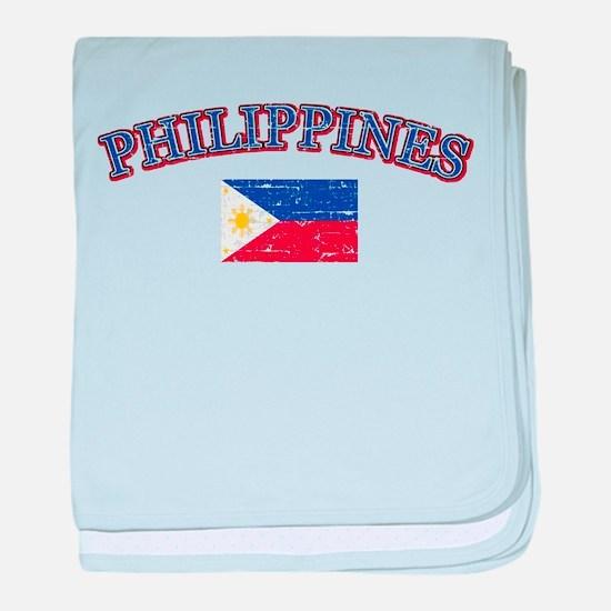 Philippines Flag Designs baby blanket
