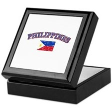 Philippines Flag Designs Keepsake Box