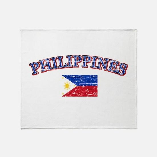 Philippines Flag Designs Throw Blanket