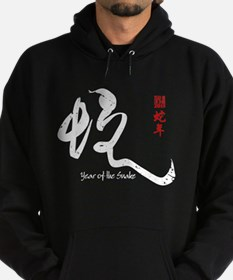 Year of the Snake 2013 - Distressed Hoodie (dark)