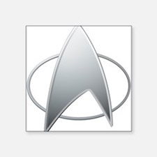 "STAR TREK TNG Square Sticker 3"" x 3"""