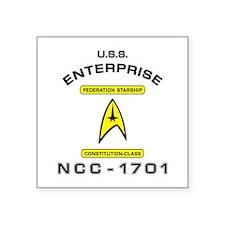 """STAR TREK NCC-1701 Square Sticker 3"""" x 3"""""""
