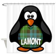 Lamont Tartan Penguin Shower Curtain