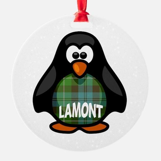 Lamont Tartan Penguin Ornament