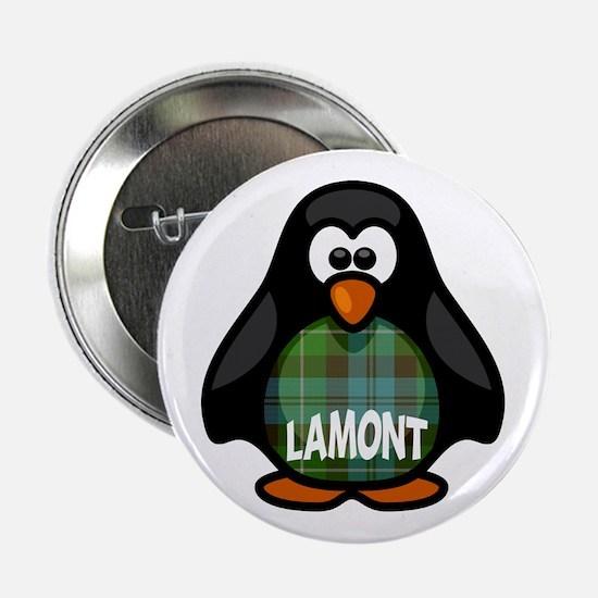 """Lamont Tartan Penguin 2.25"""" Button"""