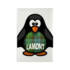 Lamont Tartan Penguin Rectangle Magnet