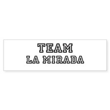 Team La Mirada Bumper Bumper Sticker