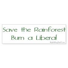 Save the Rainforest Bumper Bumper Sticker