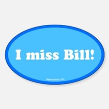Blue I miss Bill Oval Decal