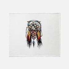 indian head Throw Blanket
