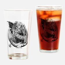 elfe mit haustier2 Drinking Glass