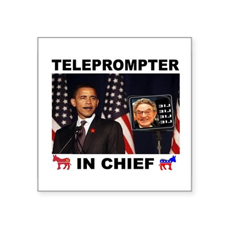 "TELEPROMPTER Square Sticker 3"" x 3"""