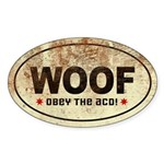 WOOF! Australian Cattle Dog Oval Sticker