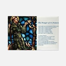St Francis Rectangle Magnet