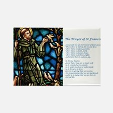 St Francis Rectangle Magnet (10 pack)