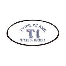 Tybee Island GA -Varsity Design. Patches
