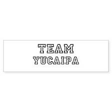 Team Yucaipa Bumper Bumper Sticker