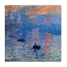 Claude Monet Impression Sunrise Tile Coaster