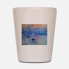 Claude Monet Impression Sunrise Shot Glass