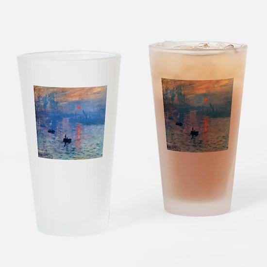 Claude Monet Impression Sunrise Drinking Glass