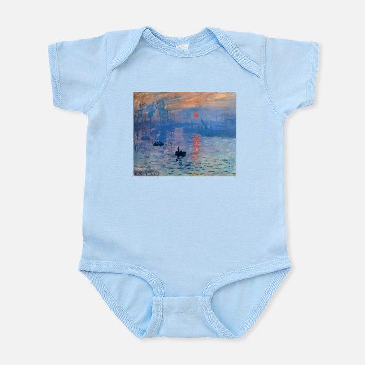 Claude Monet Impression Sunrise Infant Bodysuit
