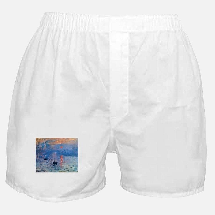 Claude Monet Impression Sunrise Boxer Shorts