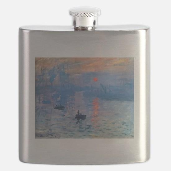 Claude Monet Impression Sunrise Flask
