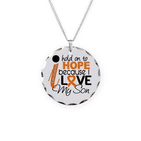 Hope For My 1 Leukemia Necklace Circle Charm