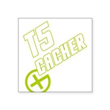 "Geocaching T5 Cacher Square Sticker 3"" x 3"""