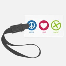 Geocaching PEACE LOVE CACHE Luggage Tag
