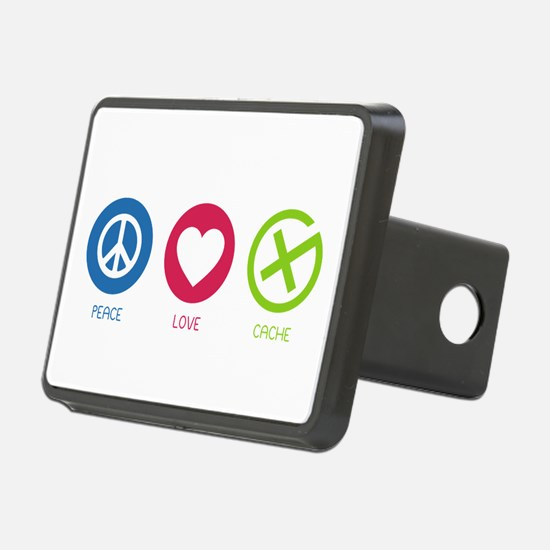 Geocaching PEACE LOVE CACHE Hitch Cover