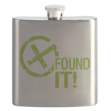 Geocaching FOUND IT Flask